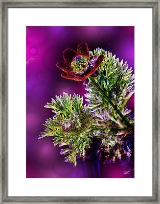 Violet Labialize Flora Framed Print by Bill Tiepelman