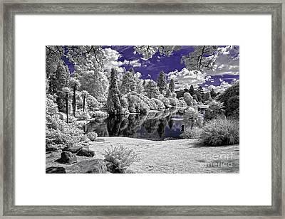 Violet Lake - Infrared Photography Framed Print by Steven Cragg