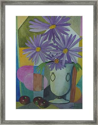 Violetas Framed Print by Juan  Salazar