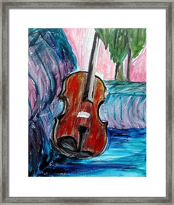 Violin Framed Print by Amanda Dinan
