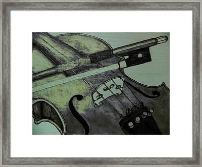 Violin Framed Print by Andrew Siecienski