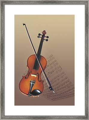 Violin Framed Print by Comstock