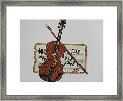 Violin Framed Print by Kovats Daniela