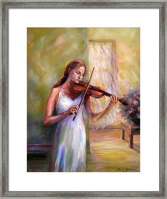 Violin Sonata Framed Print by Bonnie Goedecke