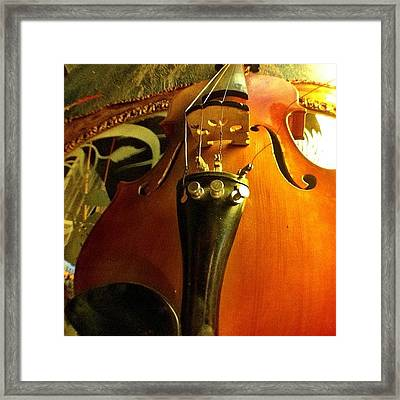 #violin #viola #music #art Framed Print