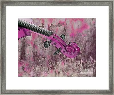 Violinelle - Pink 03b2 Framed Print by Variance Collections