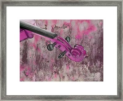 Violinelle - Pink 03b2 Framed Print