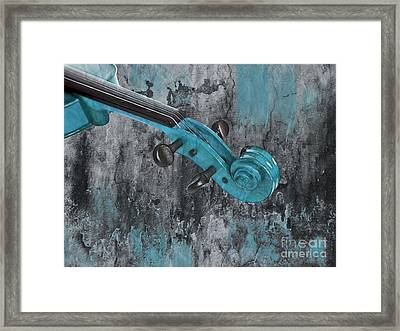Violinelle - Turquoise 04d2 Framed Print by Variance Collections