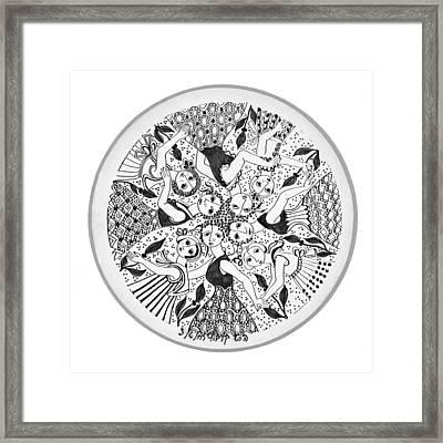 Virgae Framed Print by Rachel Hershkovitz