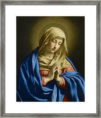 Virgin At Prayer Framed Print