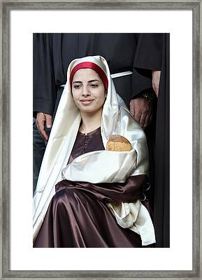 Virgin Mary And Baby Jesus At 4th Annual Christmas March Framed Print by Munir Alawi