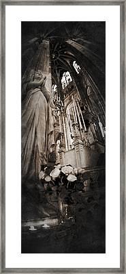 Virgin Mary Framed Print by Torgeir Ensrud