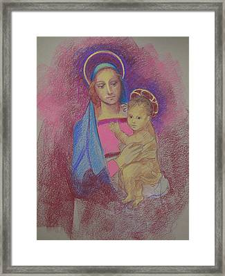 Virgin Mary With Baby Jesus Framed Print