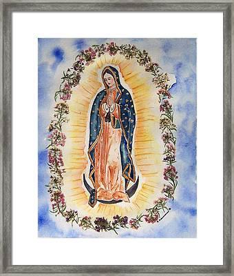 Virgin Of Guadalupe Framed Print by Regina Ammerman