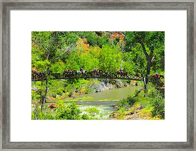 Virgin River Crossing Framed Print by David Lee Thompson