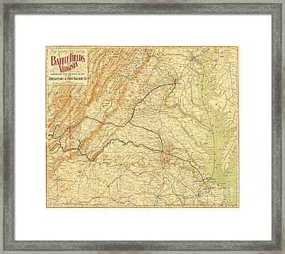 Virginia Battlefields Framed Print by Pg Reproductions