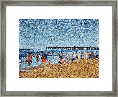Virginia Beach In June Framed Print by Micah Mullen