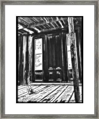 Virginia City Ghost Town Door II Framed Print by Susan Kinney