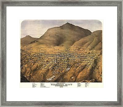Virginia City Nevada 1875 Framed Print by Donna Leach