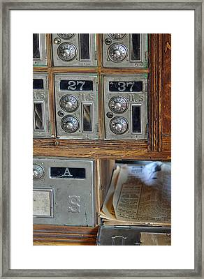 Virginia City Post Office Box Framed Print by Bruce Gourley