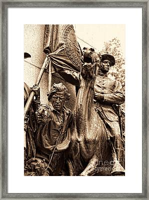 Virginia Monument Gettyburg Framed Print