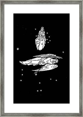 Virgo And Coma Constellations, Artwork Framed Print by