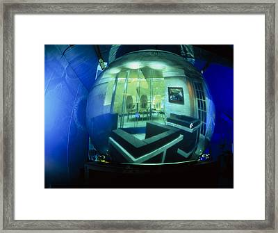 Virtual Environment Projected Onto The Cybersphere Framed Print by Volker Steger
