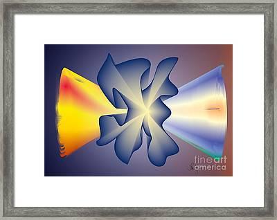 Framed Print featuring the digital art Virtual Memory by Leo Symon