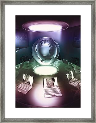 Virtual Office Framed Print by Coneyl Jay