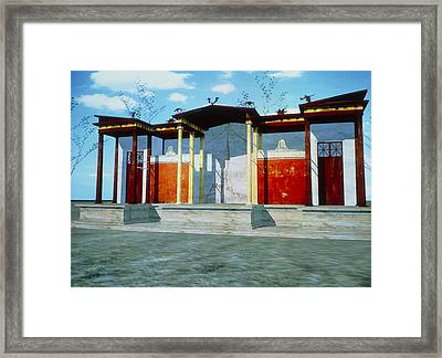 Virtual Reality Model Of An Ancient Roman Theatre Framed Print by Theatronvolker Steger