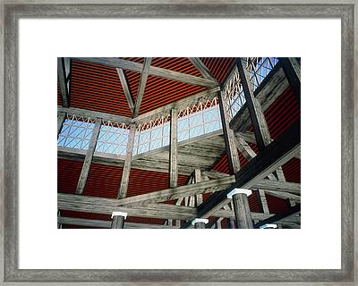 Virtual Reality Model Of The Odeum Of Pericles Framed Print by Theatronvolker Steger