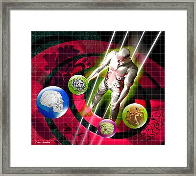 Virtual Reality Surgery Framed Print by Victor Habbick Visions