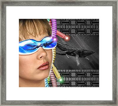 Virtual Reality Framed Print by Victor Habbick Visions