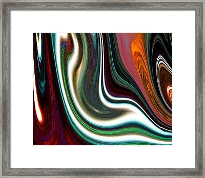 Framed Print featuring the digital art Visceral by Ginny Schmidt
