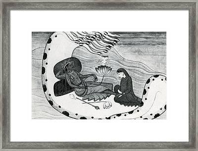 Vishnu And Lakshmi Framed Print