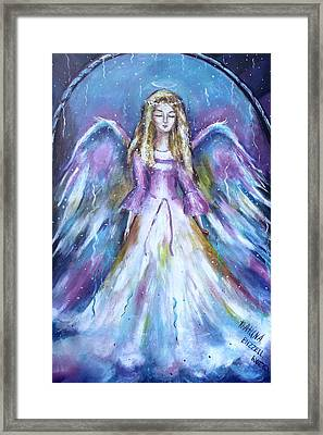 Vision Of Angel  Framed Print by Khatuna Buzzell