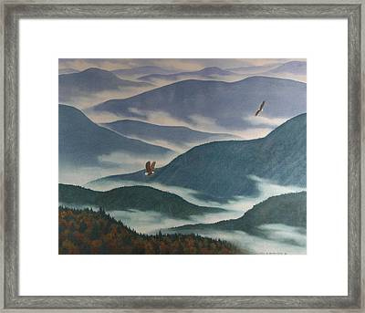 Vision Of The Great Smokies Framed Print by Glen Heberling