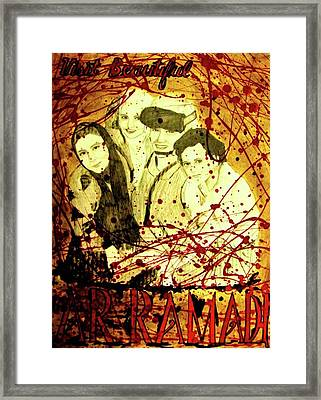 Framed Print featuring the mixed media Visit Beautiful Ar Ramadi by Michelle Dallocchio