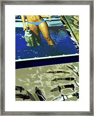 Visit Texas Framed Print by Joe Jake Pratt