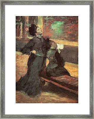 Visit To A Museum Framed Print by Edgar Degas