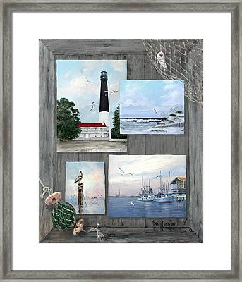 Visit To The Gulf - Pensacola Framed Print