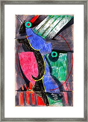 Visiting The Loft Of A Friend Framed Print by Al Goldfarb