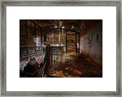 Visiting The Past Framed Print