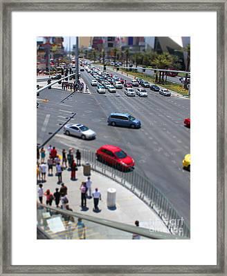 Visiting Vegas Framed Print by Billie-Jo Miller