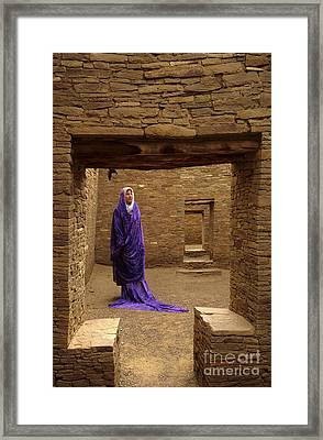 Visitor At Chaco Canyon Framed Print by Bob Christopher