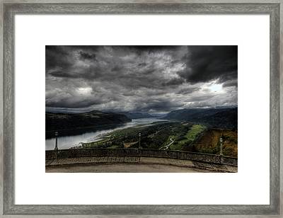 Vista House View Framed Print