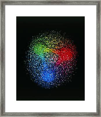 Visualisation Of Quark Structure Of Proton Framed Print by Arscimed