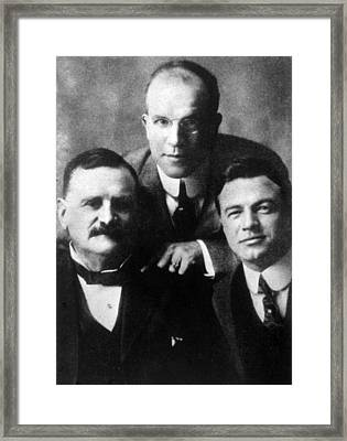 Vitagraph Film Studio Founders William Framed Print by Everett