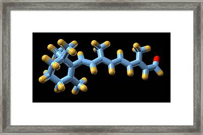 Vitamin A (retinal) Molecule Framed Print by Dr Mark J. Winter