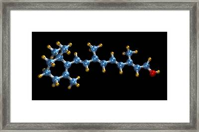 Vitamin A (retinol) Molecule Framed Print by Dr Mark J. Winter